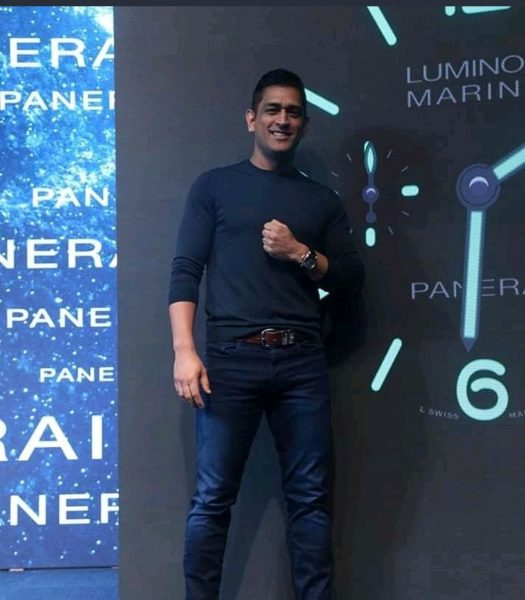 "MS Dhoni at Mumbai promotional event ""jan tak mat pucho"""