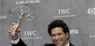 Sachin wins Oscar of Sports